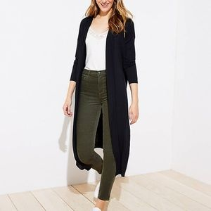 NWT LOFT Women's Knit Duster - Black